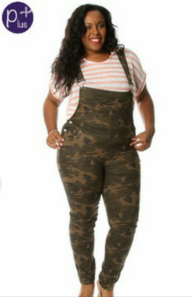 Plus Size camouflage Overalls - Platinum South Store